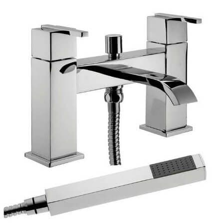 Jupiter Milan Chrome Two Handle Bath Shower Mixer EPI007